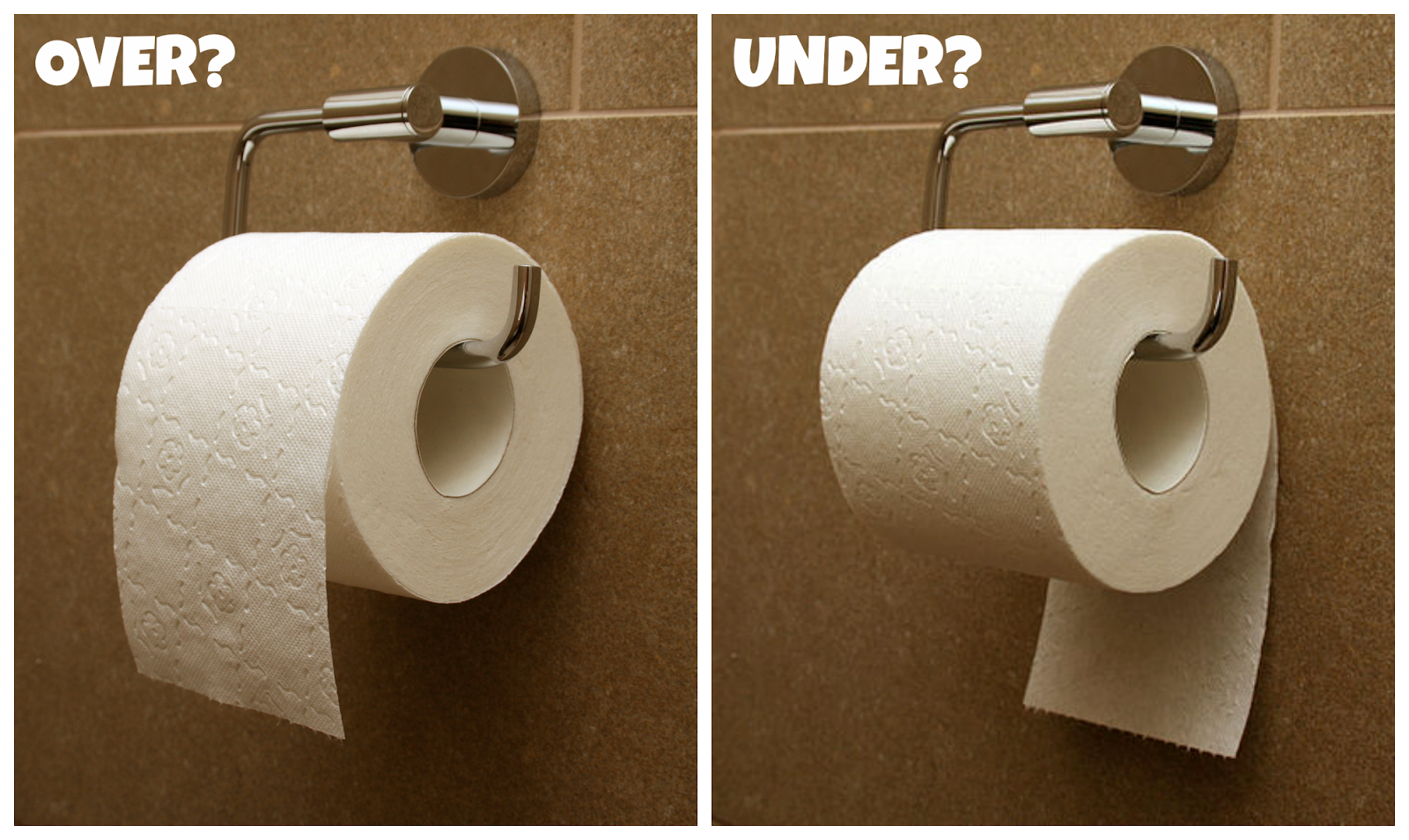 Image result for toilet paper over or under meme